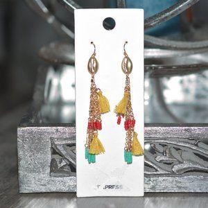 EXPRESS Gold Clamshell Nautical Dangle Earrings